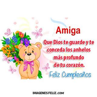 Feliz Cumpleaños hermana Cristiana Cristo nuestro señor te llene de bendiciones. Osito con ramo de flores