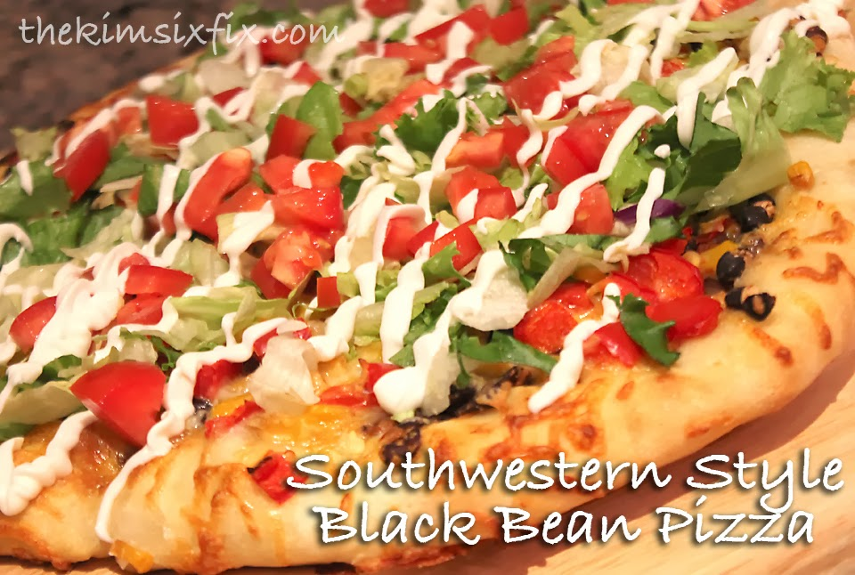 Southwestern Black Bean Pizza