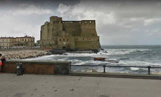 Castel dell'Ovo is a seaside castle on a peninsula on the Gulf of Naples in Italy
