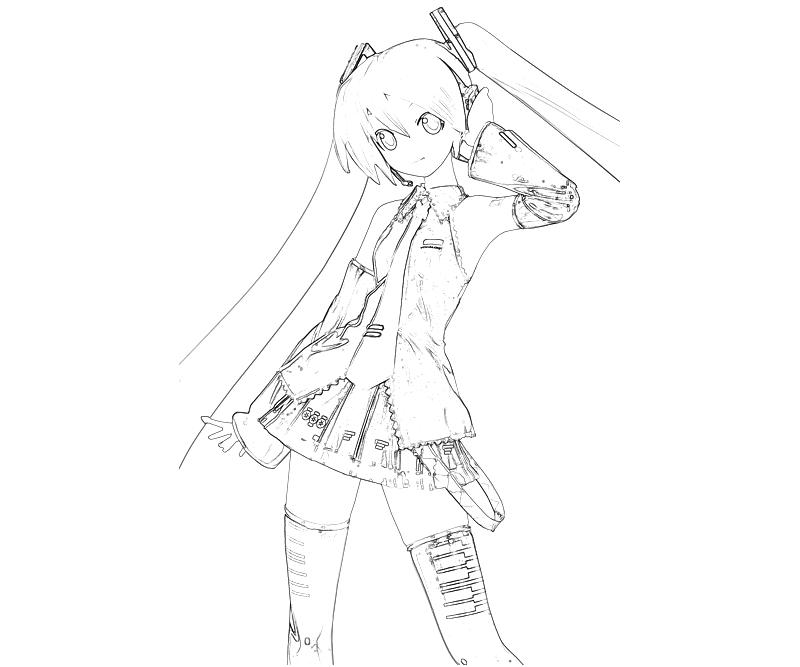 hatsune miku coloring pages - photo #43