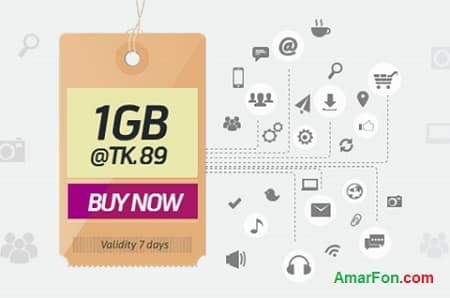 Grameenphone 1 GB Internet Data Package Only 89 Taka