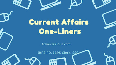 Current Affairs One-liners - 20th November 2017