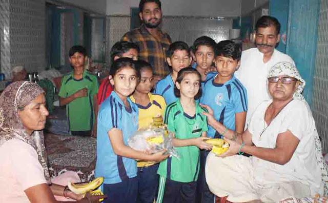 Students of Bansi Vidya Niketan School meet elders