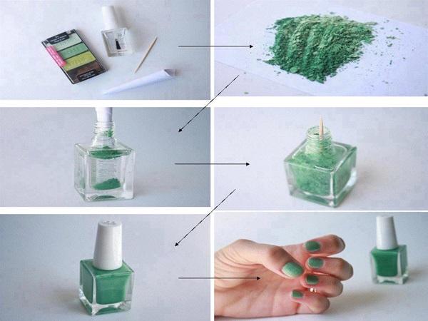 Como fazer o esmalte passo a passo :