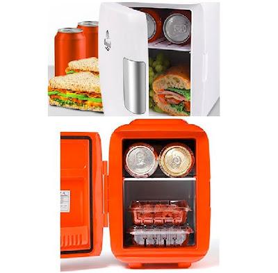 Cooluli Mini Fridge - Portable 4-Liter Car Refrigerator - Travel Cooler/Warmer