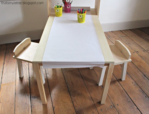 diy kids art table with storage