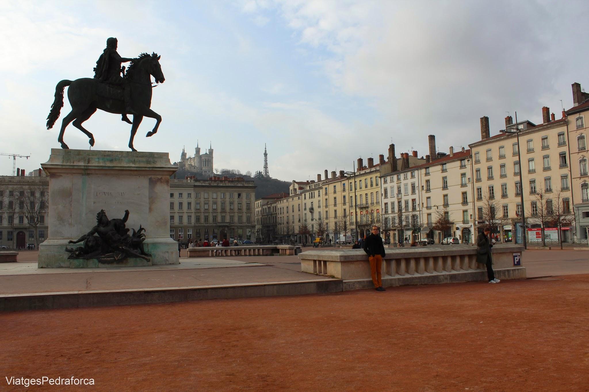 Place de Bellecour, Presqu'ile, Lyon, Lió, Rhône-Alpes, France