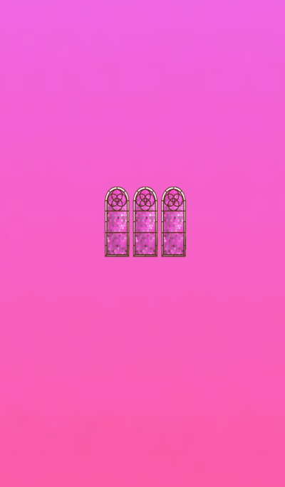Stained glass pink red