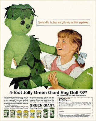 Jolly Green Giant Rag Doll