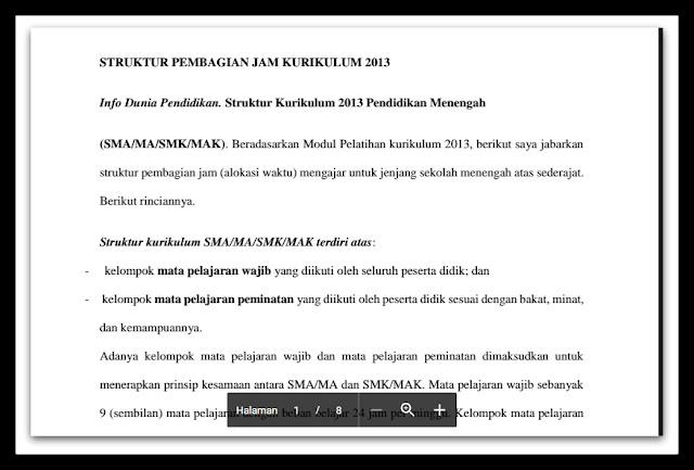 Download Struktur Pembagian Jam Kurikulum 2013 Terupdate