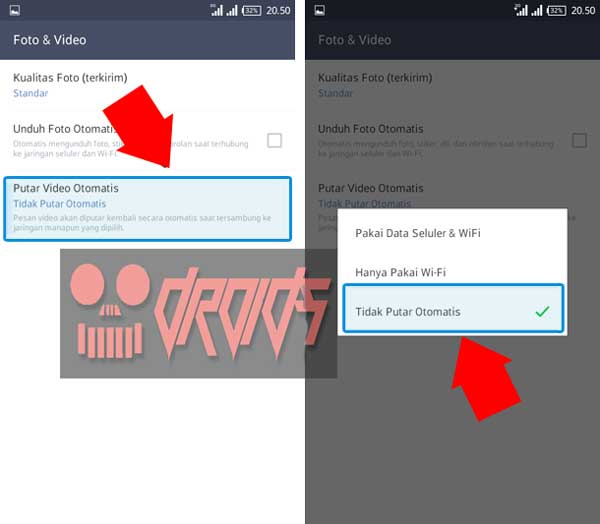 Cara Agar Video di Line Tidak Putar Otomatis