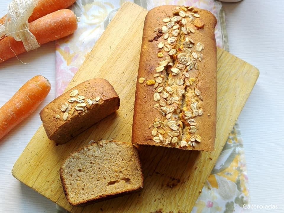 plumcake de zanahoria y canela sin azúcar