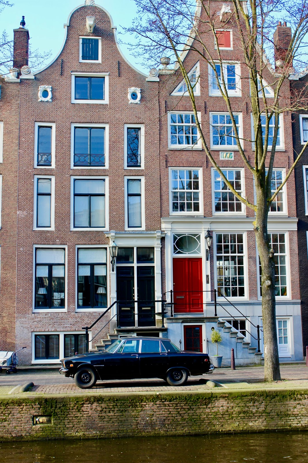Pretty Houses at Canals of Amsterdam