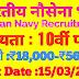 Indian Navy Recruitment 2019, भारतीय नेवी भर्ती 2019