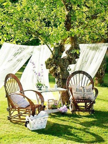 cosy summer romantic garden