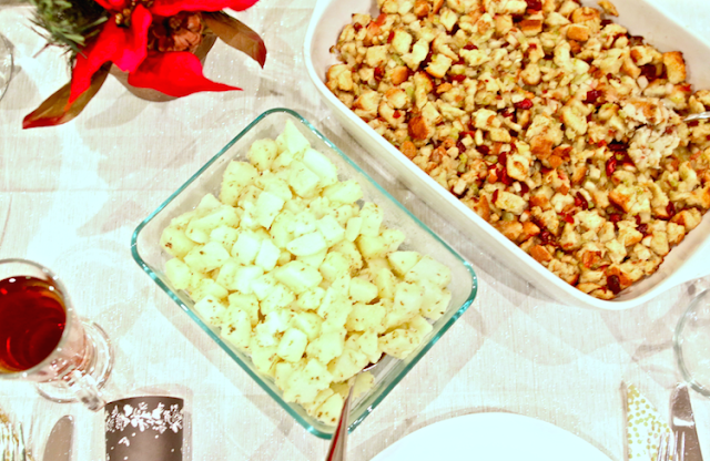 Potato Salad - Pear Cranberry and Bacon Stuffing - Discover the Best of Fresh at Walmart - #FreshPotluck