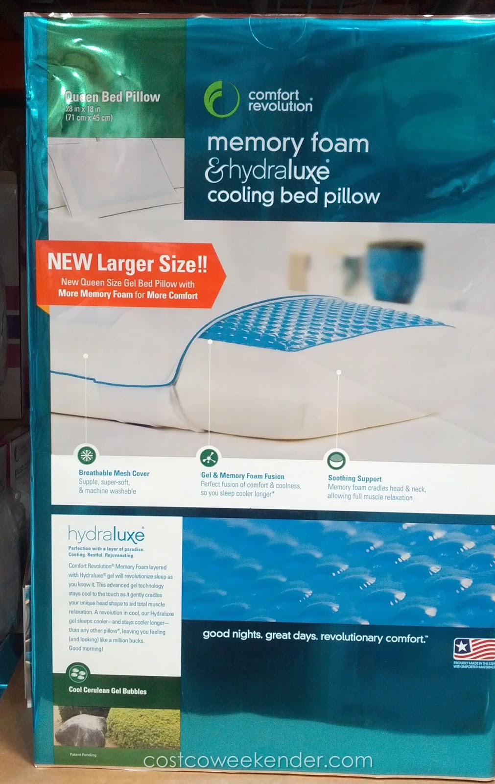Comfort Revolution Memory Foam Amp Hydraluxe Cooling Bed