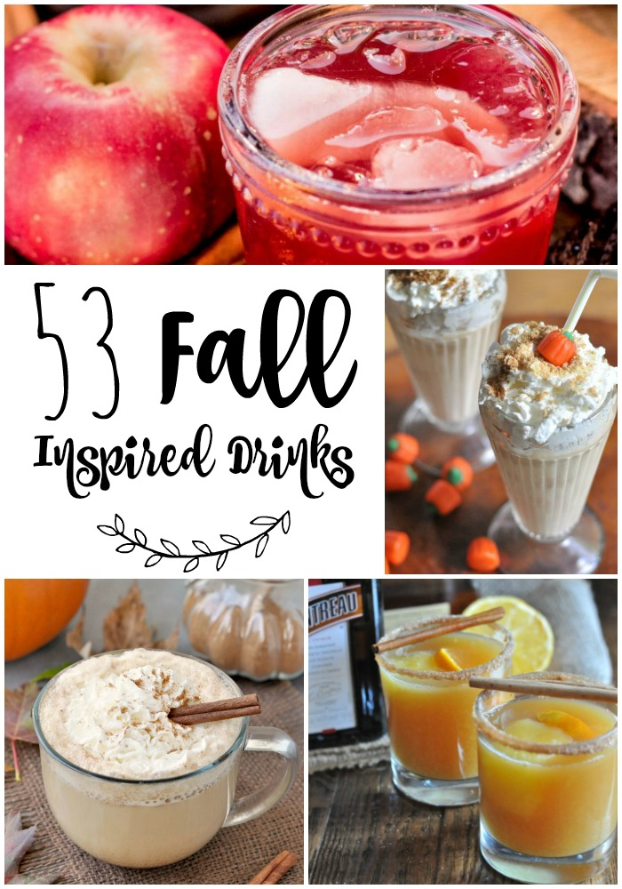 Fall Inspired Drink List