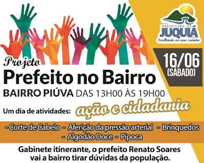 "Prefeitura de Juquiá realizará projeto ""Prefeito no Bairro"" na Piúva"