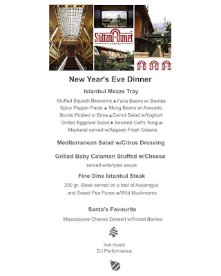 sultanahmet palacae hotel istanbul new year party menu