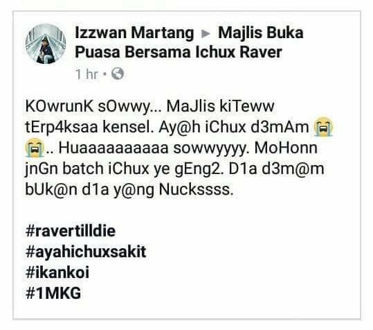 Uchux Raver Masuk Lokap