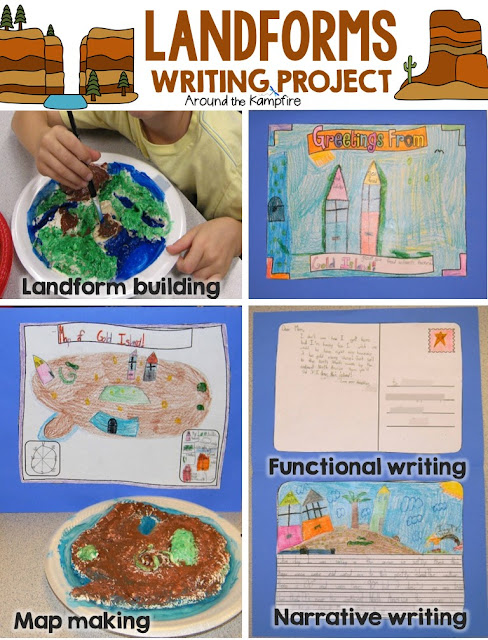 Landforms hands-on creative writing project