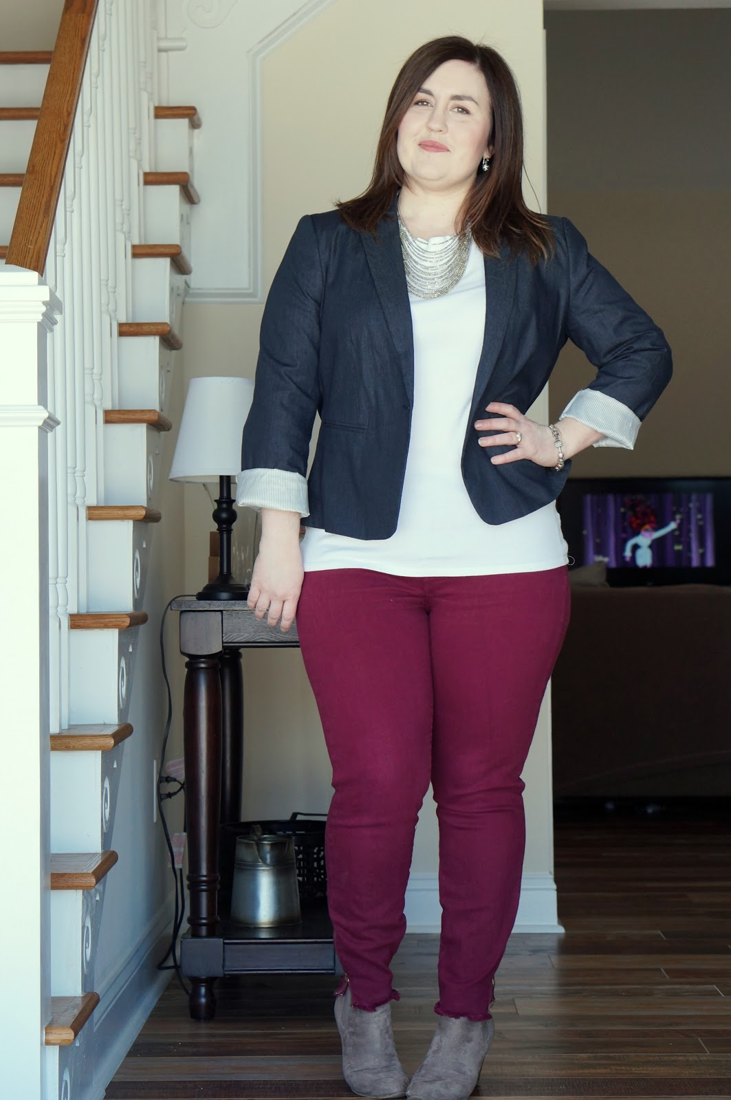 North Carolina style blogger Rebecca Lately shares a winter work look!  Read more here!
