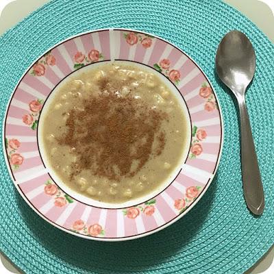 Canjica com Leite de Coco e Açúcar Mascavo - Receita