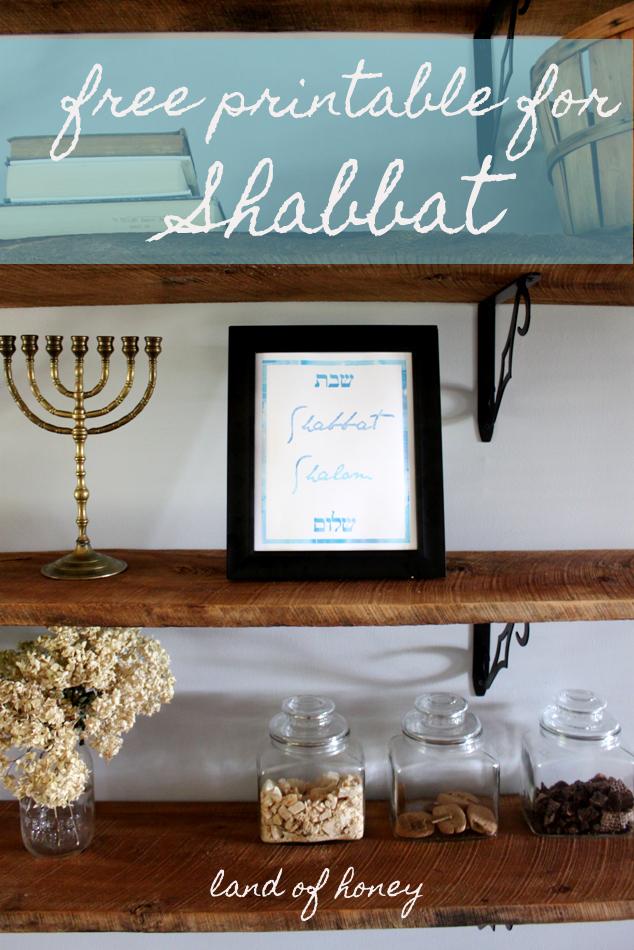 image about Shabbat Blessings Printable titled land of honey: Shabbat Shalom Printable