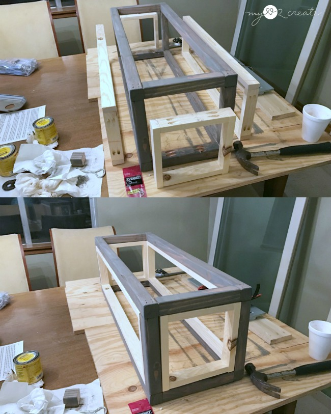 Dry Ing Frame To Fit In Diy Rectangle Chandelier