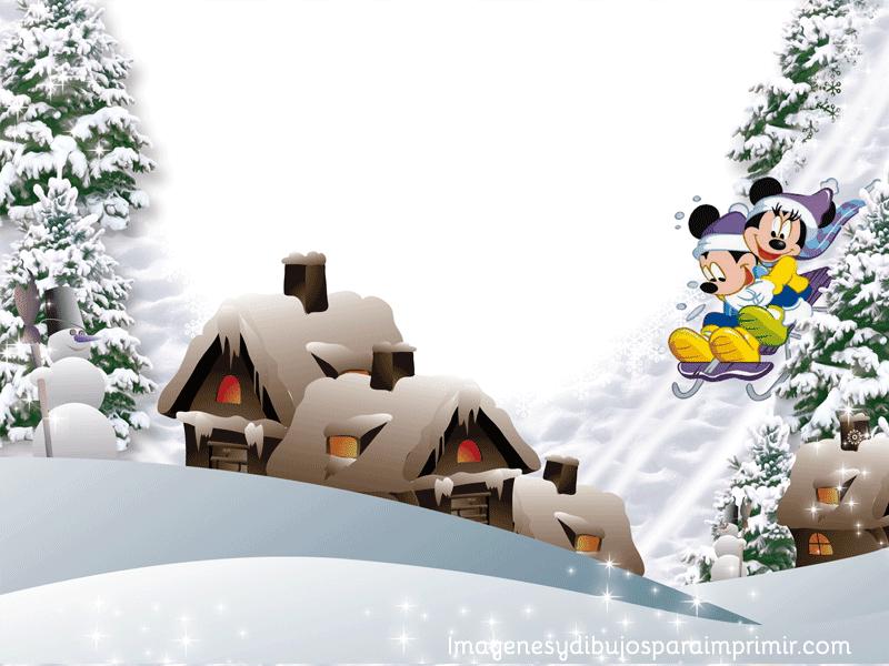 Felicitaciones De Navidad De Disney.Marcos Disney De Navidad Para Imprimir Imagenes Y Dibujos