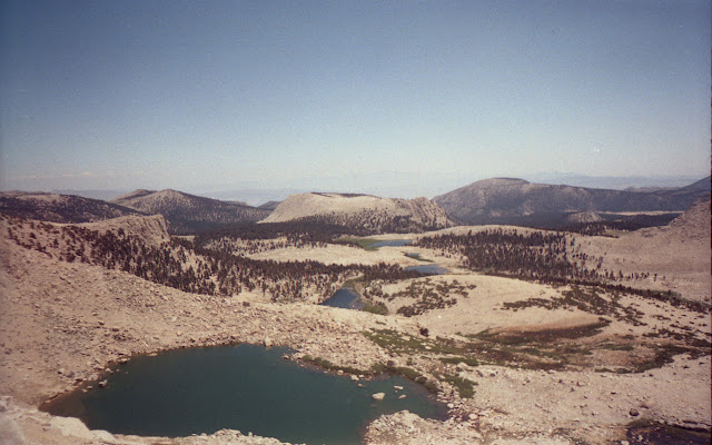 Cottonwood Lakes and the higher lakes from New Army Pass