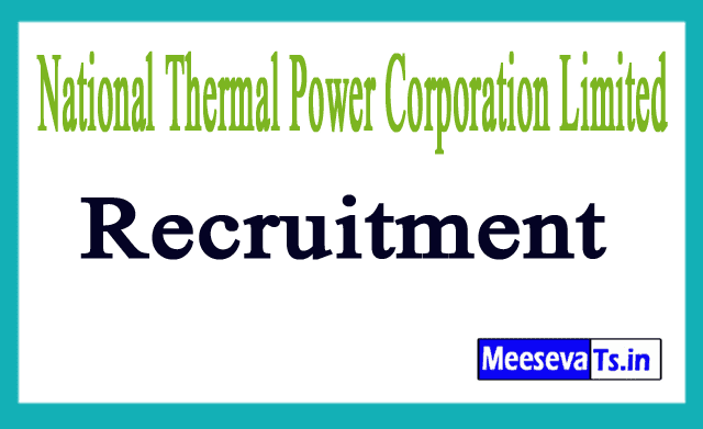 National Thermal Power Corporation Limited NTPC Recruitment