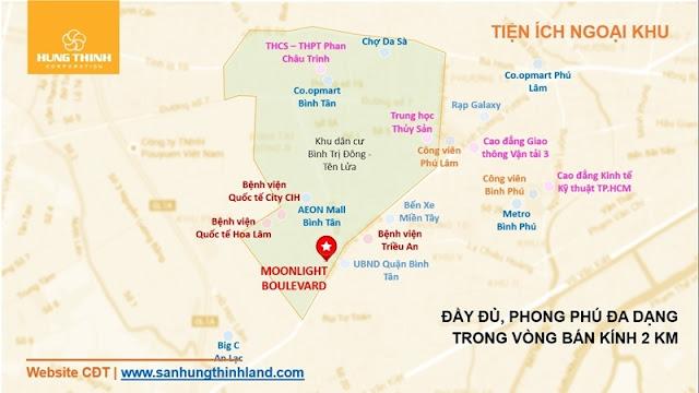 Tiện ích căn hộ MoonLight Boulevard Hưng Thịnh