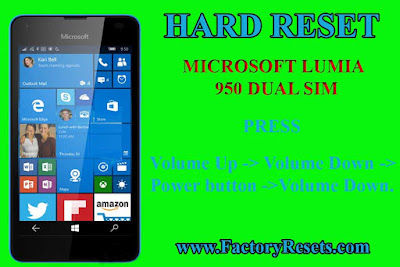 HOW TO HARD RESET Microsoft Lumia 950 Dual SIM