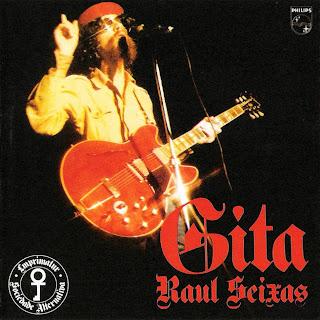 """Raul Seixas vestido de Che Guevara na capa do disco """"Gita"""", de 1974"""
