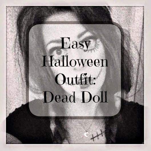 Super Last Minute Halloween Outfit Idea - Dead Doll