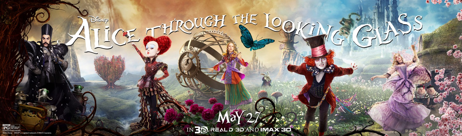 Alice Through The Looking Glass (2016) Banner