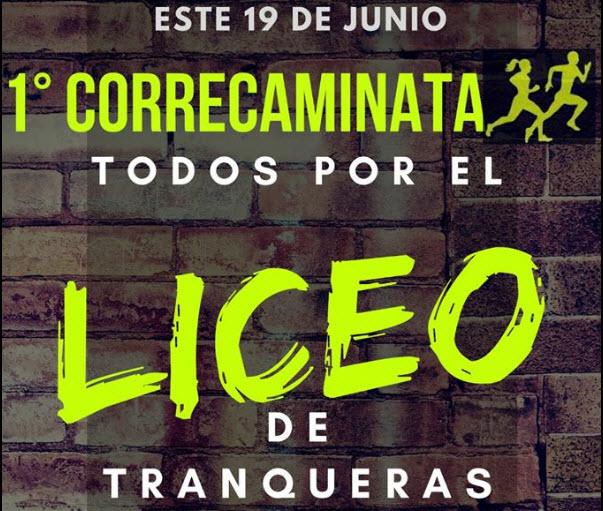 Correcaminata por el liceo de Tranqueras (Rivera, 19/jun/2018)