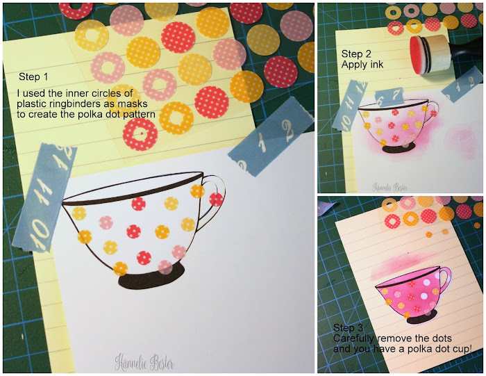 Create a polka dot pattern with masking technique