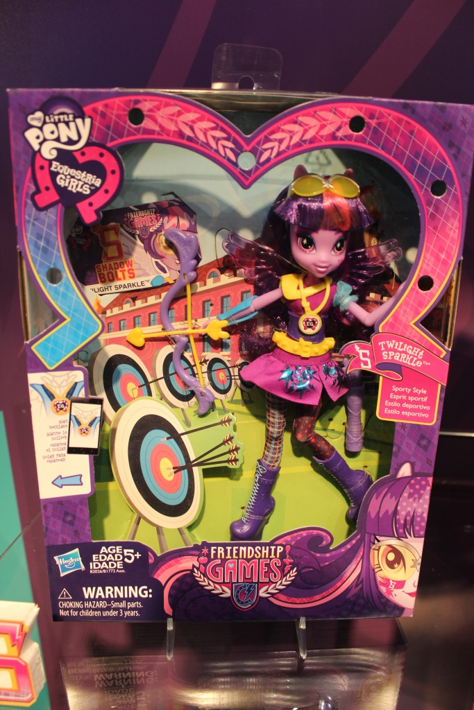 Equestria Girls Friendship Games Twilight Sparkle Archery Doll at NY Toy Fair 2015
