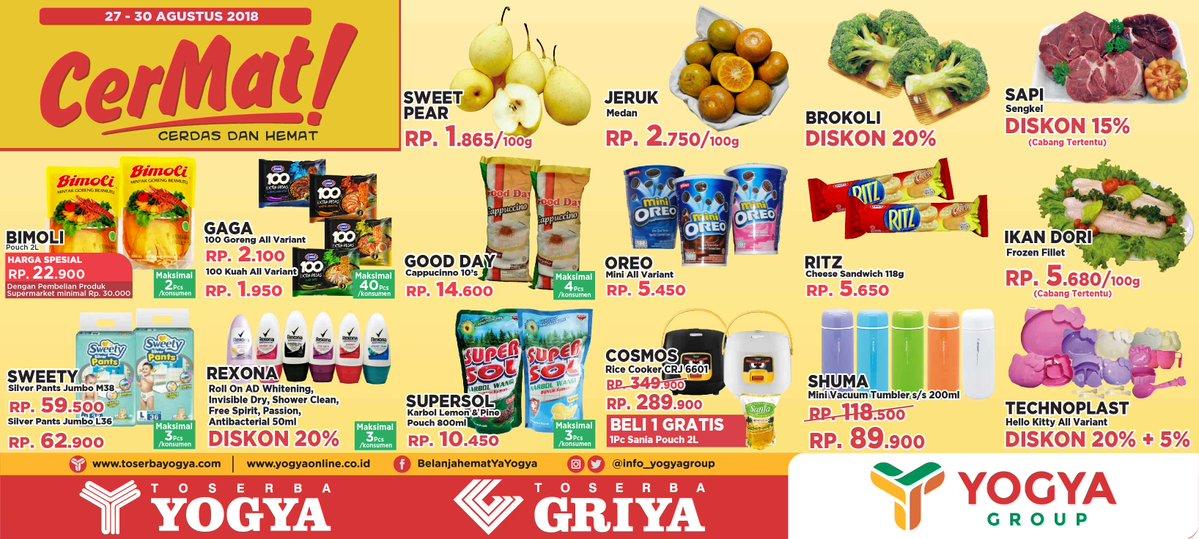Yogya - Promo Katalog Cerdas & Hemat Periode 27 - 30 Agustus 2018
