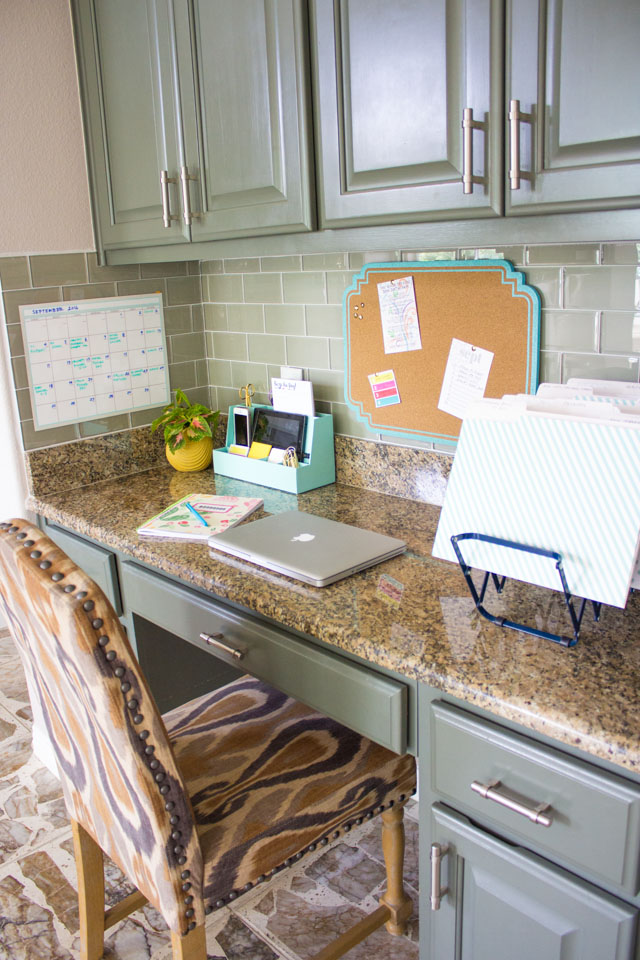 Have a built-in desk area? Here is how to organize it!