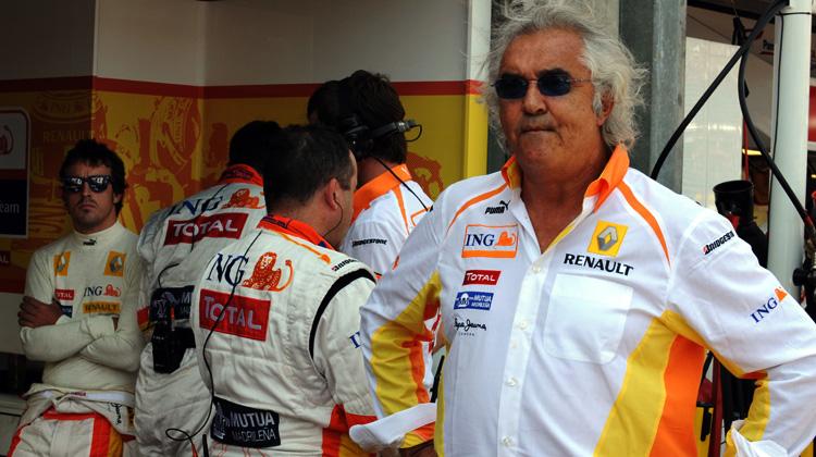 Flavio Briatore y Fernando Alonso, Renault, 2009