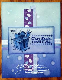Monochromatic Blue Sassy Christmas