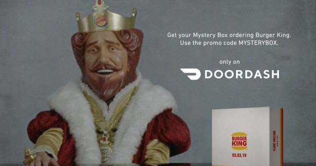 Burger King Will Ship You a Free Mystery Box When You Make a Door Dash Delivery Order of $10 or ...