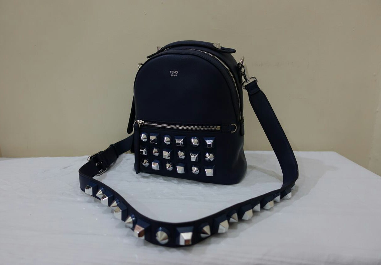 Kinda Kollection  Fendi BackPack Mini Studded Swift Mirror Original Leather  Bag..Part 3 fabaac7911