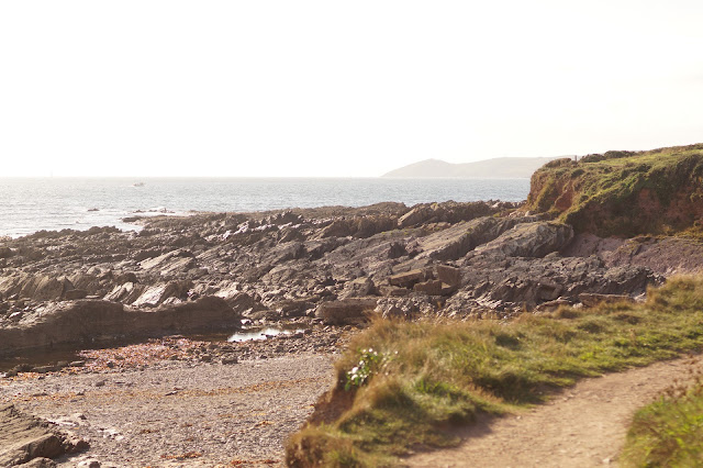 Wembury Point beach and the Great Mewstone Devon