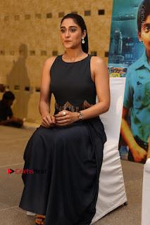 Actress Regina Candra Stills in Beautiful Blue Long Dress at Nagaram Success Meet  0161.JPG