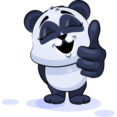 Thumbs Up Panda